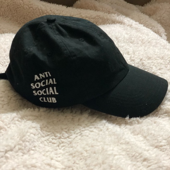 d55f0f7feea Anti Social Social Club Accessories - Anti Social Social Club Weird Cap  Black